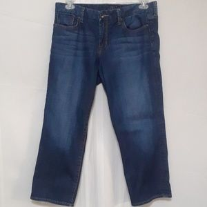 "Lucky Brand ""Sweet Jean Crop"" denim jeans size 12"
